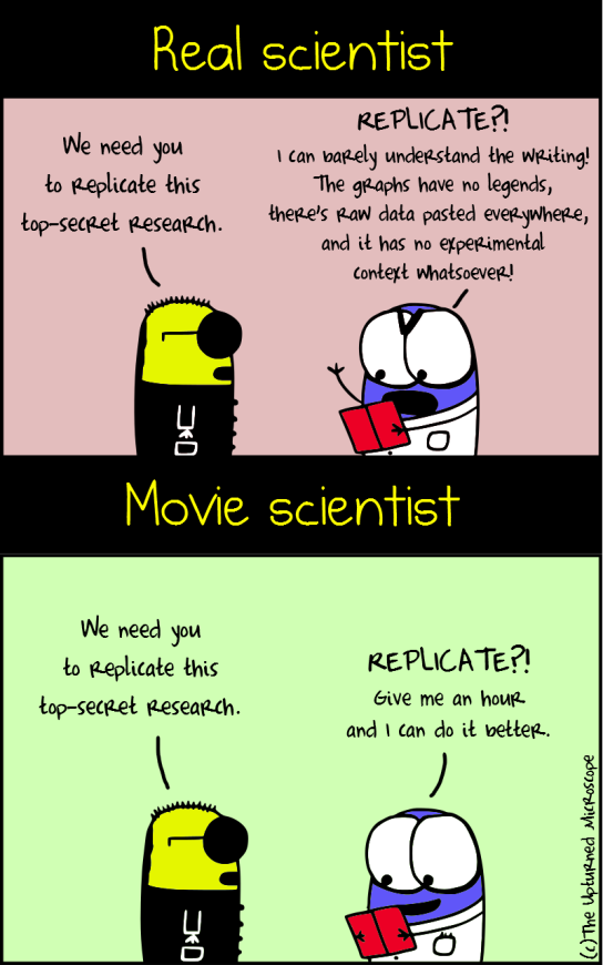 Real vs movie scientist2