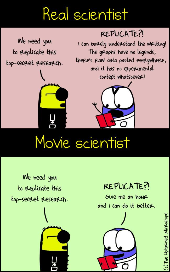 Real vs movie scientist2
