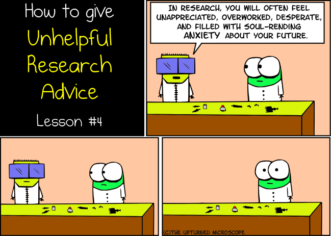 Unhelpful research advice 4