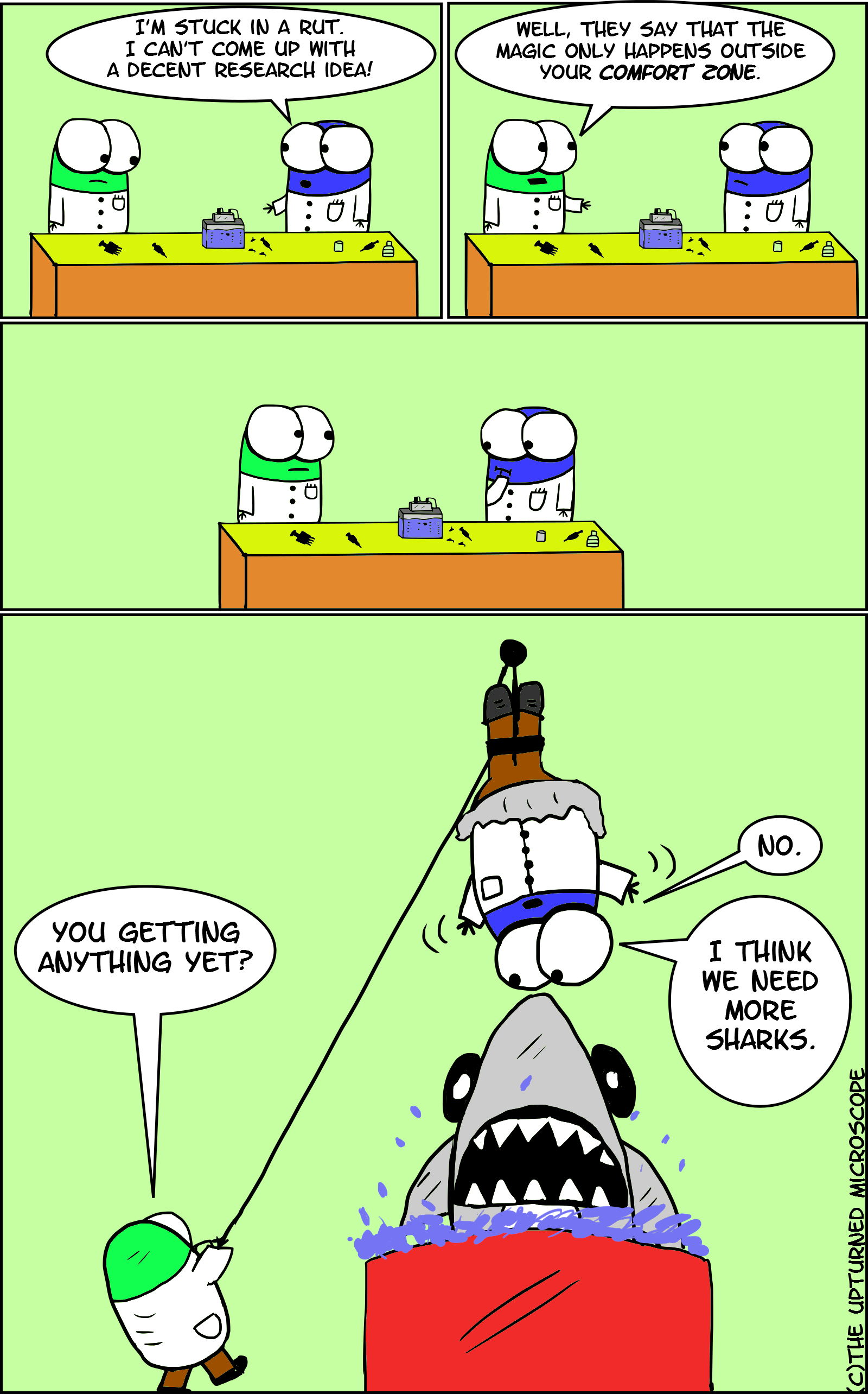Humour the upturned microscope page 2 for Comfort zone
