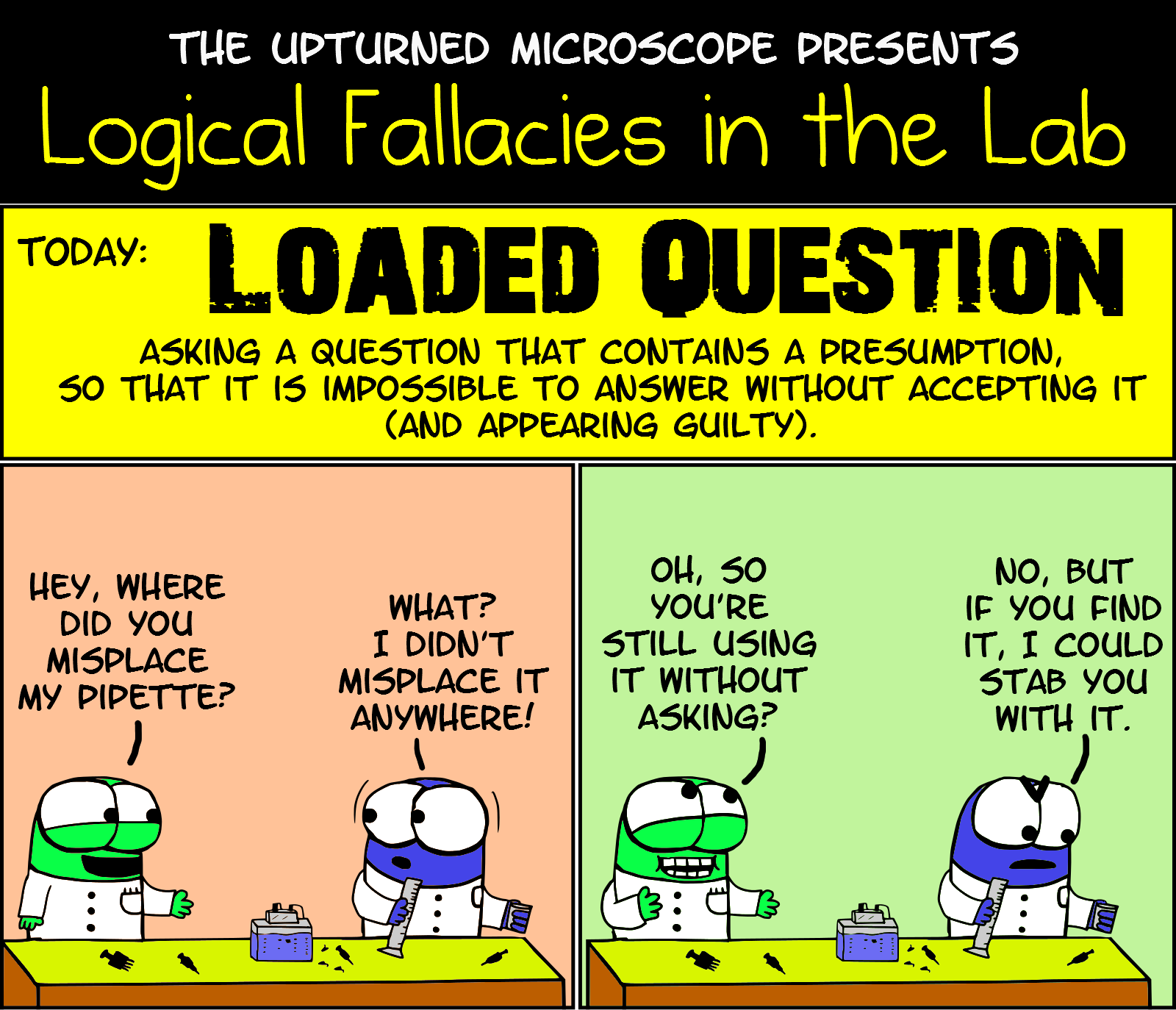 logical fallacies loaded question the upturned microscope lf10 loaded question
