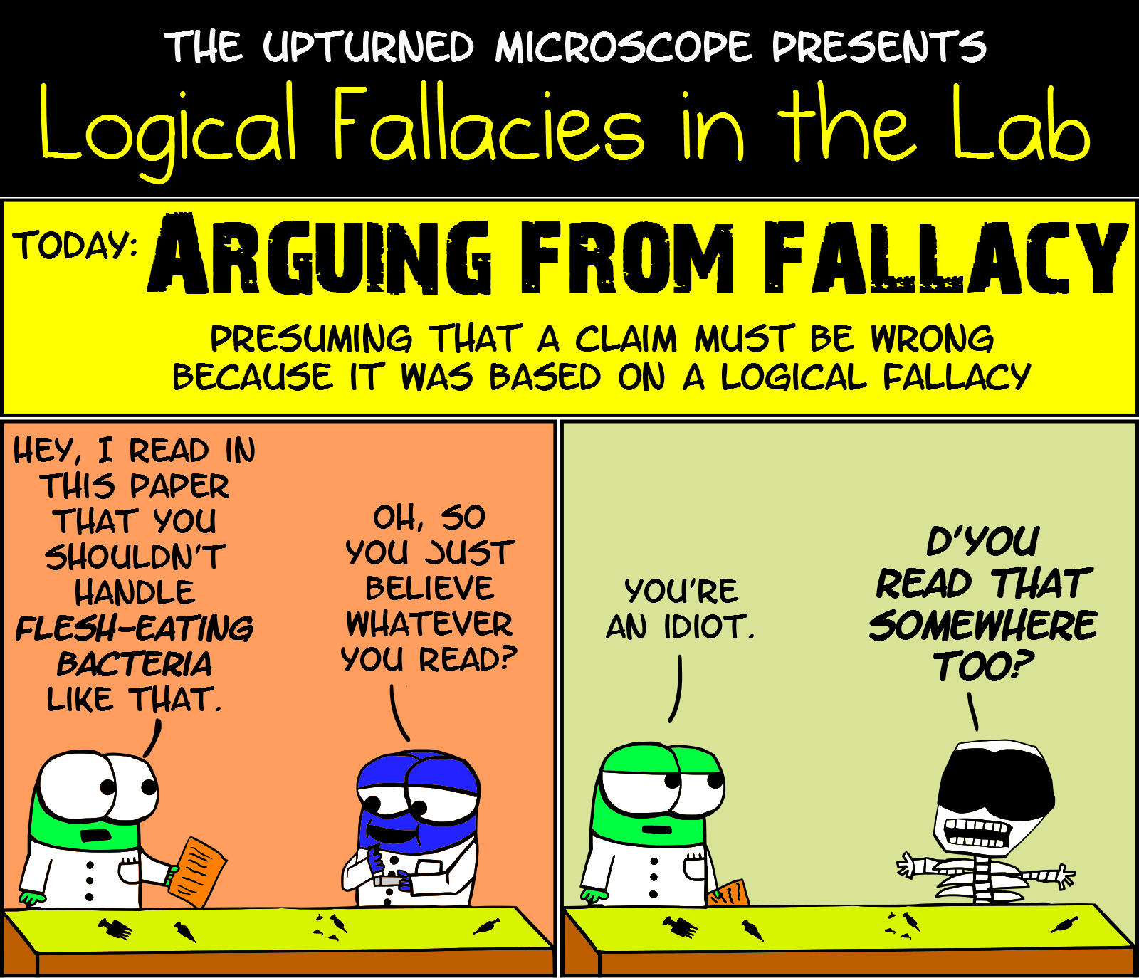 humour the upturned microscope page  lf4 arguing from fallacy