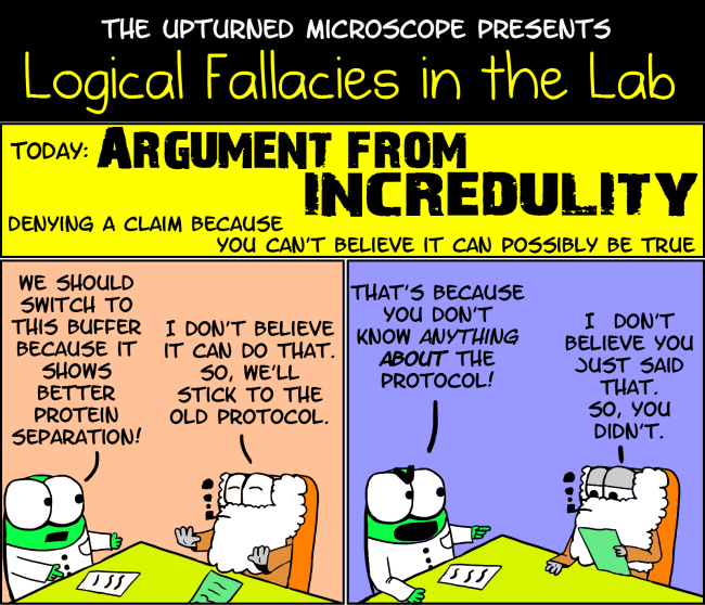 LF8 Argument from incredulity