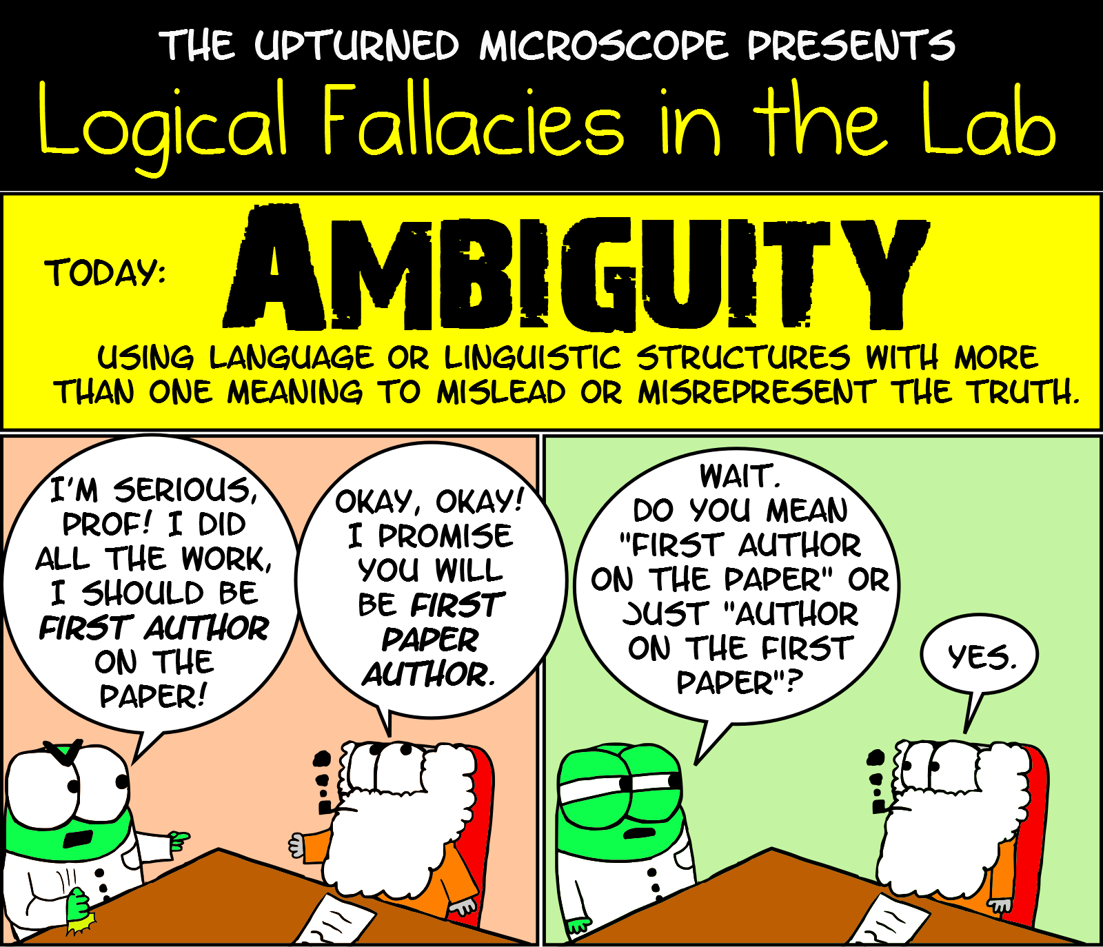 Logical Fallacies Ambiguity The Upturned Microscope